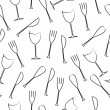 Cutlery seamless pattern — Stock Vector