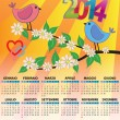 2014 bird calendar — Stock Vector #30553489