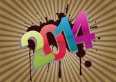 2014 graphic — Stock Vector