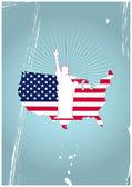 Estatua de la libertad — Vector de stock