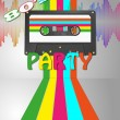 Stock Vector: Tape cassette party