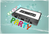 Tape cassette party — Stock Vector