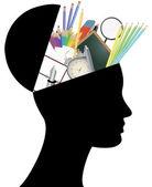 School head — Stock Vector