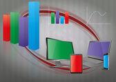 Tech-bar-grafik — Stockvektor
