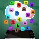 Smartphone multimedia — Stock Vector