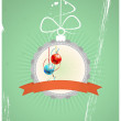 Stock Vector: Christmas badge