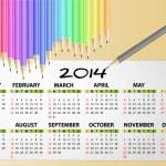 2014 calendar pencil — Stock Vector #35433679
