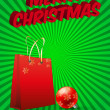 Xmas bag — Stock Vector