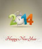 2014 alarm clock — Stock Vector