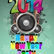 2014 party — Stock Vector