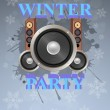 winter party — Stock Vector