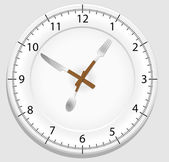 Dish clock — Stockvektor