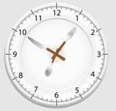Dish clock — Stock Vector