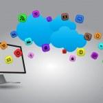 Tech cloud — Stock Vector #38029355