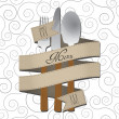 Stock Vector: Menu cutlery