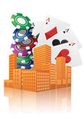 City casino — Stock Vector