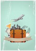 Voyage valise — Vecteur