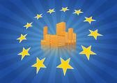 Europe city — Stock Vector