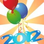2012 balloon — Stock Vector #7912566