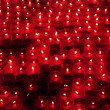 Red votive candles — Stock Photo #12445502