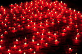 Red votive candles — Stock Photo