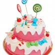 Pink birthday cake - Stock fotografie