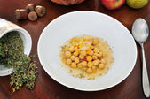 Aromatic chickpea soup — Stock Photo