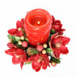 Christmas red candle — Stock Photo #18883587