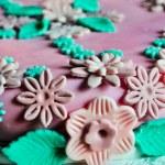 Cake design, pink cake — Stock Photo #18883659