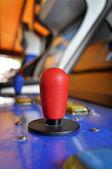 Joystick of a vintage arcade videogame — Stock Photo