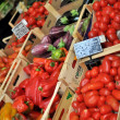 Stall vegetable market — Foto Stock