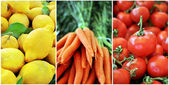 Summer fruits and vegetables — Stock Photo