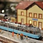 pociąg zabawka modelu — Zdjęcie stockowe