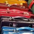 Stock Photo: Colored leather handbags