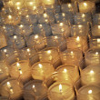 votive candles — Stock Photo