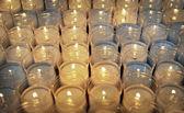 Votive candles — Stock Photo