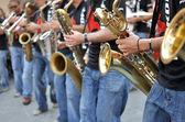 Saxophone player — Zdjęcie stockowe