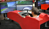 F1 driving simulator — Stock Photo