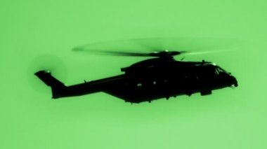 Helicopter Night Vision — Stock Video