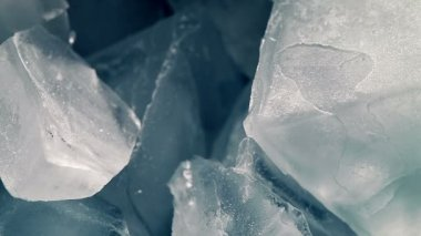 Ice Cubes Melting in Time Lapse — Stock Video