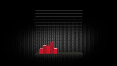 Growth Chart 12 Bars RED — Stock Video