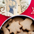 Christmas gingerbread cookies in box — Stock Photo #15797257