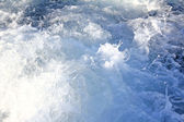 Waves from boat — Stock Photo
