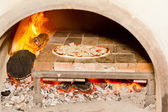 Pizza cooking — Stock Photo