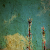 Vintage style radio tower — Stock Photo