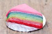 красочный слой детали креп торт радуга — Стоковое фото