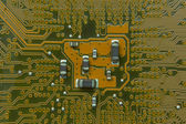 Close up of the blue circuit board — Stock Photo