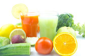Mix Juices, fruits and vegetable — Stok fotoğraf