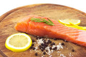 Fresh salmon with spices — Foto Stock