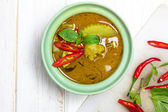 Green curry, thai cuisine — Stock Photo